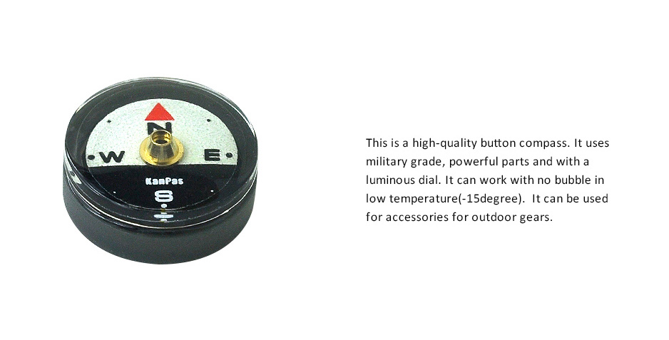 KANPAS luminous button compass capsule with no bubble in low temperature
